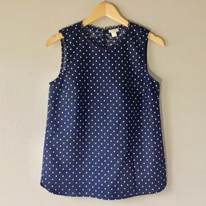 NEW J.CREW FACTORY Printed Dot Shell Top Size 4